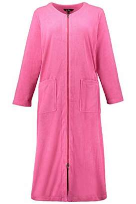 Ulla Popken Women s Plus Size 2-Way Full Zip Terry Cloth Bathrobe 703175 55- acba5e7c4