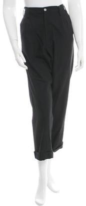 Yohji Yamamoto Wool-Blend High-Rise Pants w/ Tags $175 thestylecure.com