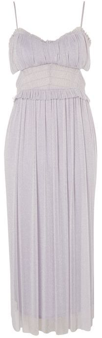 Topshop Topshop Side cut out tulle midi dress