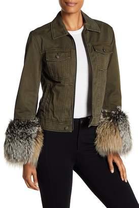 Cinq à Sept Ameerah Genuine Fox Fur Cuff Jacket