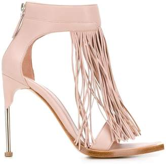 Alexander McQueen ankle-high fringe sandals