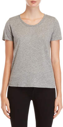 Monrow Grey Scoop Neck Tee