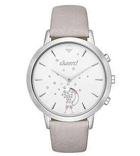 Kate Spade Sam Grey Leather Hybrid Smartwatch