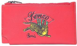 Kenzo Jumping Tiger Leather Card Holder