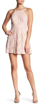 BCBGeneration Pleated Lace Dress