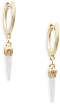 Meira T 14K Yellow Gold & Topaz Spike Earrings