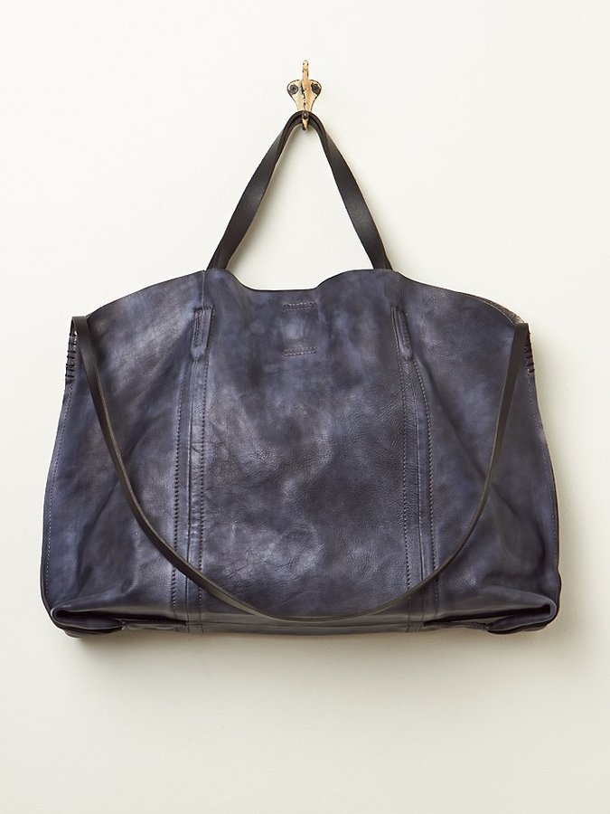 Free People Old Trend Dip Dye Leather Tote