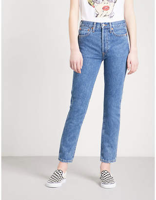 RE/DONE Slim-fit high-rise jeans