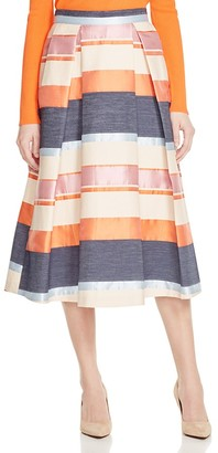Whistles Striped Jacquard Midi Skirt - 100% Bloomingdale's Exclusive $470 thestylecure.com