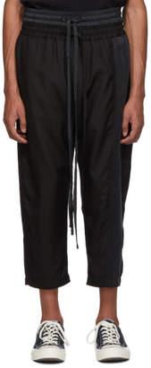 Nahmias Black Silk Double Drawstring Lounge Pants