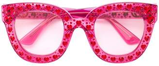 Gucci embellished heart sunglasses