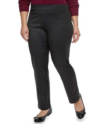 Croft & Barrow Plus Size Easy Care Straight-Leg Ponte Pants