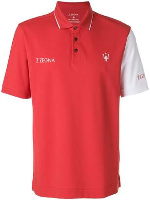 Ermenegildo Zegna short sleeved logo polo shirt