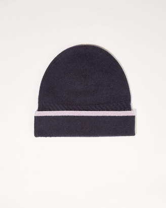 Jigsaw Contrast Edge Cashmere Hat