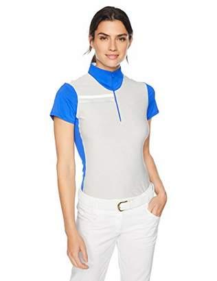 Cutter & Buck Ladies C/S Print Mix Up Contour Mock Polo Shirt