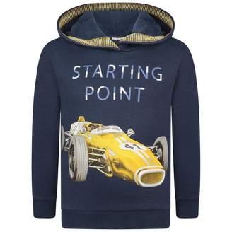 Mayoral MayoralBoys Navy Racing Car Hooded Sweater