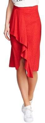 1 STATE 1.STATE Printed Ruffle Pencil Skirt