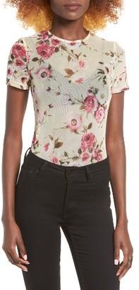 Women's Leith Floral Mesh Bodysuit $35 thestylecure.com