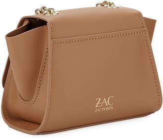 Zac Posen Eartha Mini Leather Crossbody Bag, Dark Beige