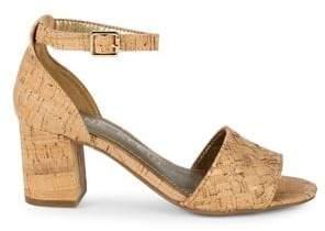 Anne Klein Carine Wooden Block-Heel Sandals