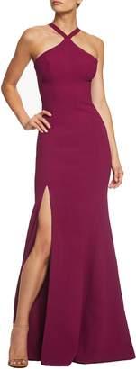 Dress the Population Brianna Halter Style Trumpet Gown