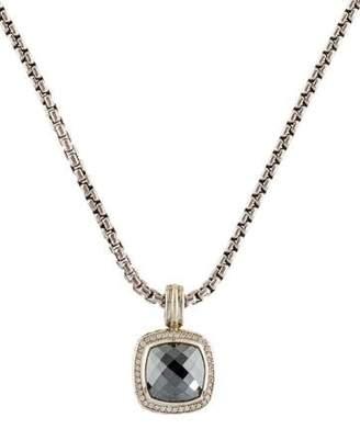 David Yurman Hematine & Diamond Albion Pendant Necklace