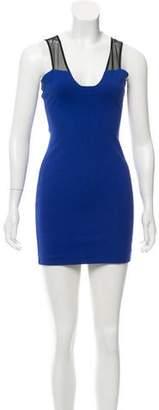 Mason Mesh-Accented Mini Dress