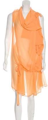 Ann Demeulemeester Silk Asymmetrical Dress
