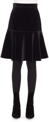 Akris Punto Bell-Shaped Scuba Velvet Knee-Length Skirt