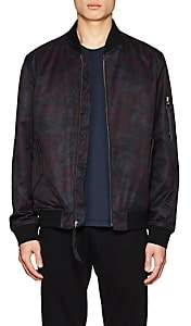The Very Warm THE VERY WARM MEN'S CAMOUFLAGE TECH-TWILL BOMBER JACKET-WINE SIZE S