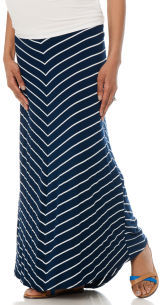 Motherhood Bump Start Secret Fit Belly® Full Length Relaxed Fit Maternity Skirt
