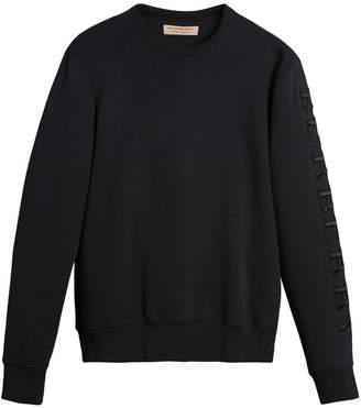 Burberry embroidered sleeve jersey sweatshirt