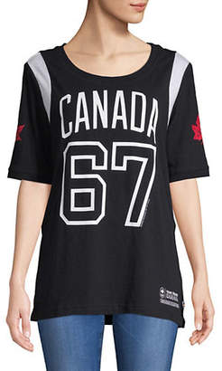 CANADIAN OLYMPIC TEAM COLLECTION Canada Retro Graphic Print Tee