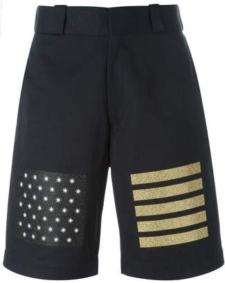 Palm Angels star and stripe print shorts