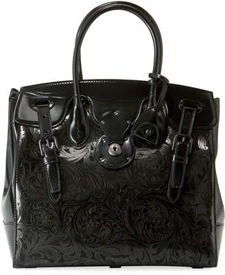 Ralph Lauren Ricky 33 Laser-Tooled Soft Top Handle Bag