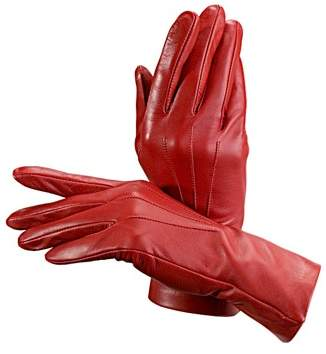 Aspinal of London Ladies Cashmere Lined Leather Gloves In Burgundy