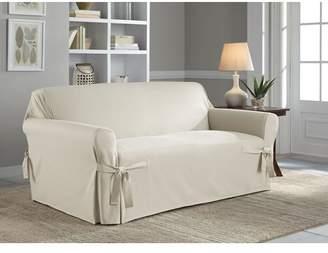 Serta Cotton Duck Box Cushion Loveseat Slipcover