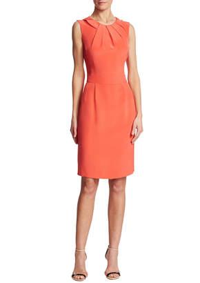 Oscar de la Renta Solid Silk Dress
