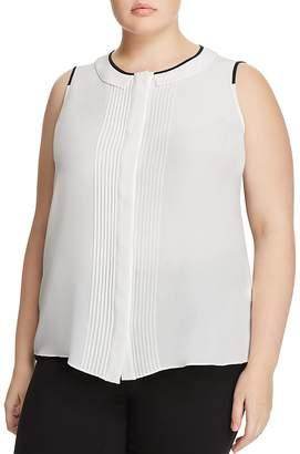 Marina Rinaldi Baldo Pleated Silk Top