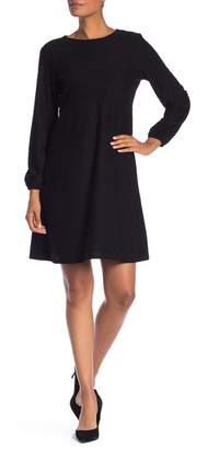 Spense Embroidered Dot Long Sleeve Dress