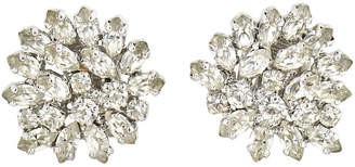One Kings Lane Vintage Dior Statement Diamante Earrings - Owl's Roost Antiques