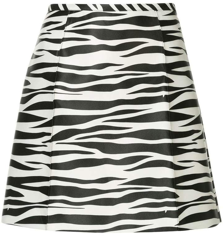 We11done zebra print a-line skirt
