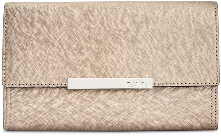 Calvin Klein Calvin Klein Saffiano Leather Evening Clutch