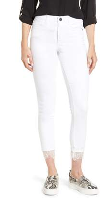 Wit & Wisdom Ab-Solution Lace Hem High Waist Jeans