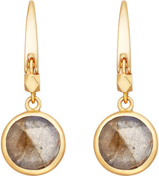 Astley Clarke Stilla 18ct gold-plated labradorite earrings