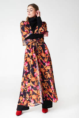Na Kd Boho Chiffon Coat Dress