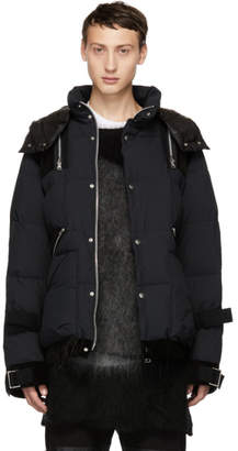 Sacai Black Combo Fabric Down Jacket