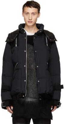 Sacai (サカイ) - Sacai ブラック コンボ ファブリック ダウン ジャケット