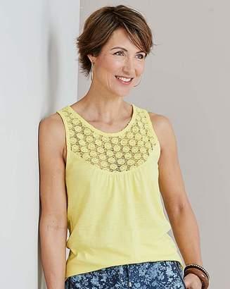 Julipa Sleevless Lace Trim Jersey Top