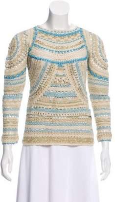 Isabel Marant Metallic Crochet Sweater w/ Tags